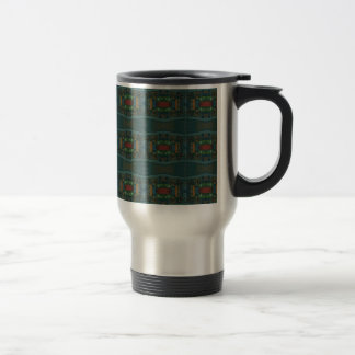 Deep Warm Masculine Pattern Travel Mug