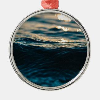 Deep Waves Metal Ornament