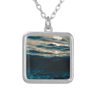 Deep Waves Silver Plated Necklace