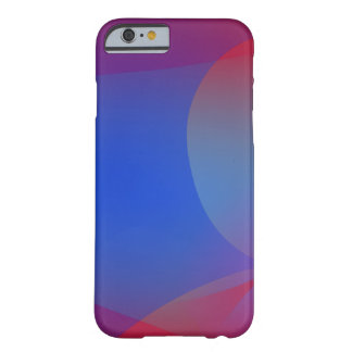Deep Wine and Blue Barely There iPhone 6 Case