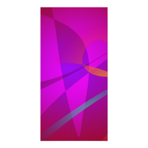 Deep Wine Red Abstract Design Personalized Photo Card
