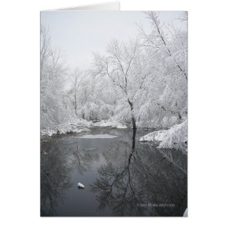 Deep Winter Reflections Card
