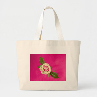 Deep Yellow Rose On Deep Pink Background Bags