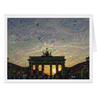 DeepDream Berlin, Brandenburg Gate Card