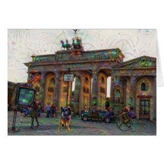 DeepDream Cities, Brandenburg Gate, Berlin Card