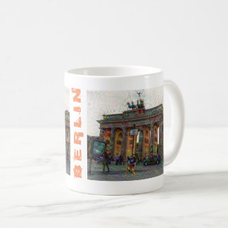 DeepDream Cities, Brandenburg Gate, Berlin Coffee Mug