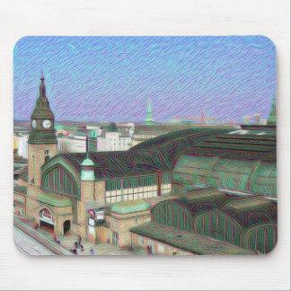 DeepDream Cities, Hamburg Mainstation Mouse Pad