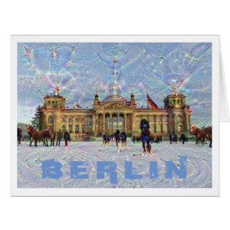 DeepDream Cities, Reichstag building, Berlin Card