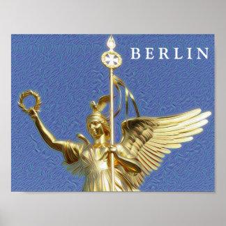 DeepDream Cities, Siegessäule 02.T, Berlin Poster