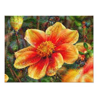 DeepDream Flowers Photograph