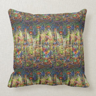 DeepDream Pictures, Cathedral Throw Pillow