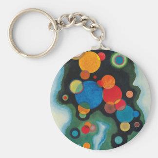 Deepened Impulse Abstract Oil on Canvas Kandinsky Key Ring