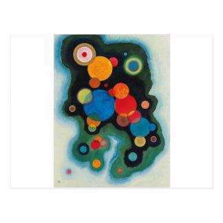 Deepened Impulse Abstract Oil on Canvas Kandinsky Postcard
