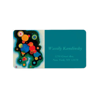 Deepened Impulse by Wassily Kandinsky Address Label