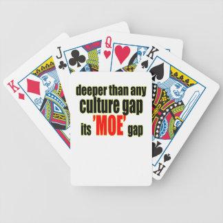 deeper culture moe gap definition for fun joke mem bicycle playing cards