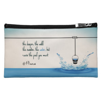 DEEPER Sueded Cosmetic Bag (M)