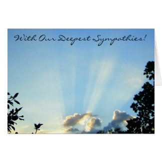 Deepest Sympathies! Greeting Card