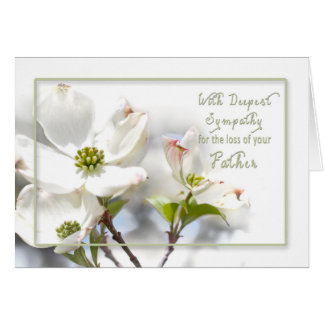 DEEPEST SYMPATHY - APPLE BLOSSOMS/ LOSS/FATHER GREETING CARD