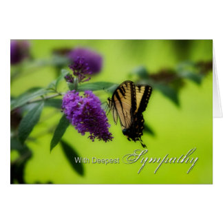 Deepest Sympathy Butterfly Card
