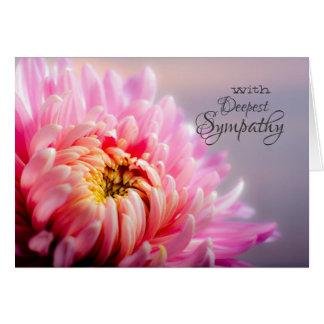 Deepest Sympathy Chrysanthemum Macro Photo Card