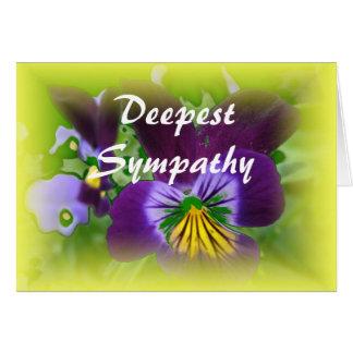 Deepest Sympathy condolences card