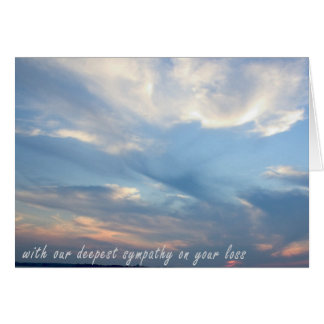 Deepest Sympathy from Us Greeting Card