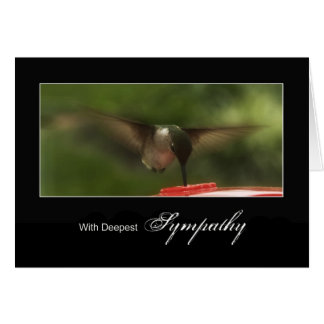 Deepest Sympathy - Hummingbird in Flight Card