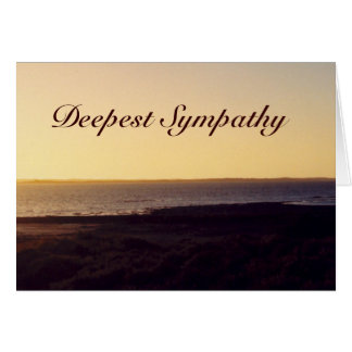 Deepest Sympathy Ocean Sunset Greeting Card