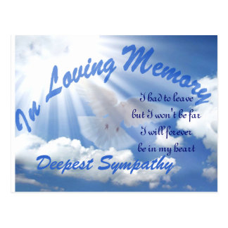 Deepest Sympathy_ Post Card