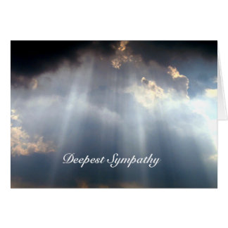 Deepest Sympathy Rays of Light Greeting Card