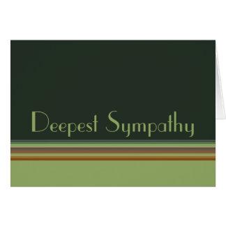 Deepest Sympathy Stripes Card