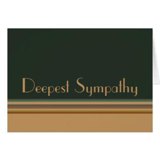 Deepest Sympathy Stripes Cards