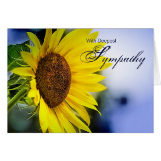 Deepest Sympathy (Sunflower) Cards