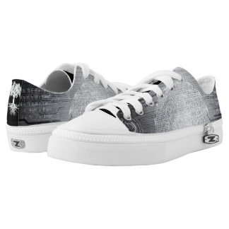 Deeply Rooted Abstract Greys Low Tops