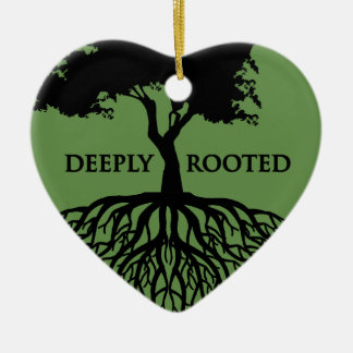 Deeply Rooted Ceramic Heart Decoration