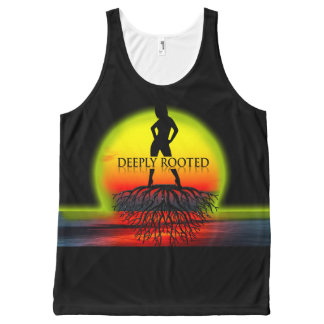 Deeply Rooted Sunset All-Over Print Singlet