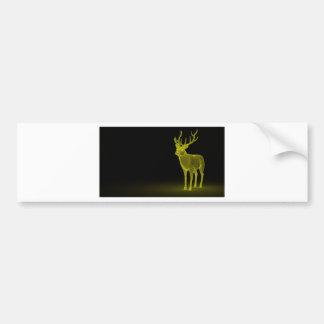 Deer abstract bumper sticker