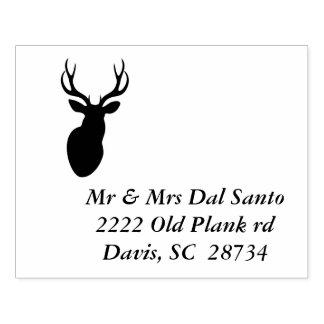 Deer Address Stamp