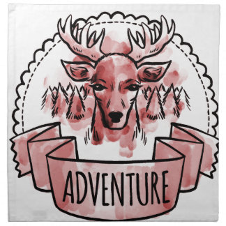 Deer Adventure Badge Napkin