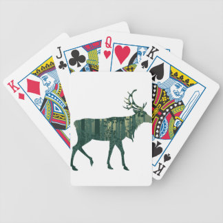 Deer and Abstract Forest Landscape 2 Bicycle Playing Cards