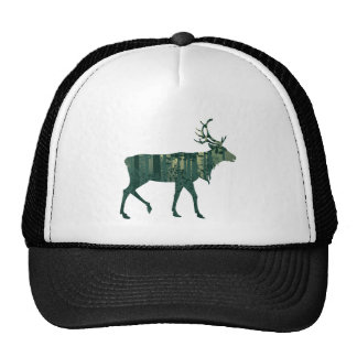 Deer and Abstract Forest Landscape 2 Cap