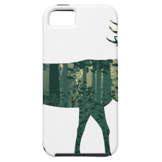 Deer and Abstract Forest Landscape 2 Case For The iPhone 5