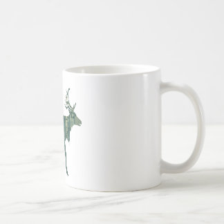 Deer and Abstract Forest Landscape 2 Coffee Mug