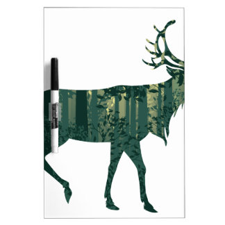 Deer and Abstract Forest Landscape 2 Dry Erase Board