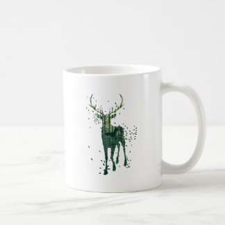 Deer and Abstract Forest Landscape Coffee Mug