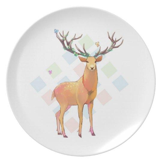 Deer and Diamonds Plate