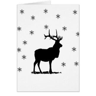 Deer and snowflakes card