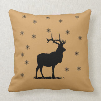 Deer and snowflakes cushion
