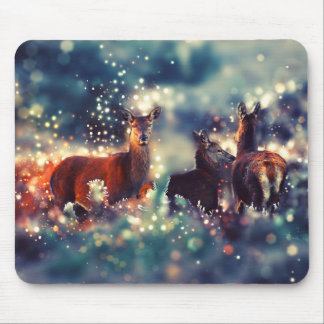 Deer animals in winters - deer. Kind, art Mouse Pad