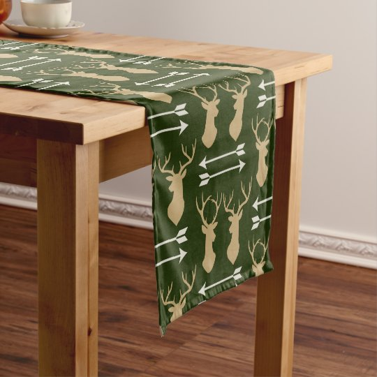 Deer Antler Arrow Pattern Short Table Runner